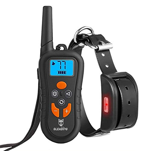 GLEADING Collar de Adiestramiento para Perros, Mando a Distancia de Rango de 400 Metros, Pitido de Alerta y Modo de Vibración - Recargable y Resistente al Agua a Nivel IP67