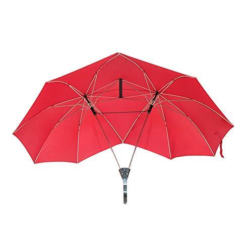 lā vestmon Doble Pantalla Dos Persona par de Lluvia Paraguas Doble tamaño Alta Paraguas Doble Top Doble Pol Paraguas creativos Paraguas para Amantes de la Familia