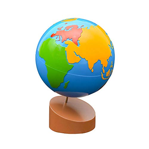 Montessori Globe - World Parts Science and Cultural Geography Materials Continental Globe and Sandpaper Globe Early Education Teaching aids Toys