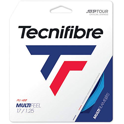 Tecnifibre Unisex– Erwachsene MULTIFEEL 1.25 Tennissaiten, Dunkelblau, 1.25 mm