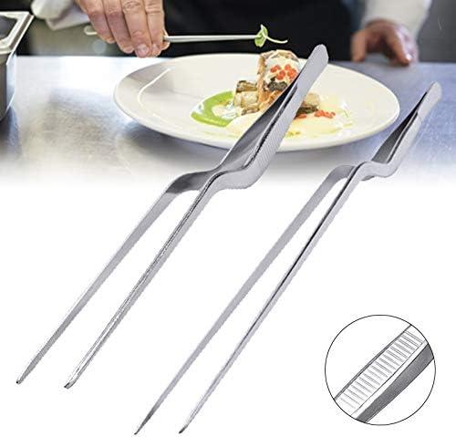 QSJWLKJ Barbecue Clip Pince en Acier Inoxydable Cuisine Barbecue Pinces Clip Alimentaire Longue Barbecue Alimentaire Tong Placage Chef Alimentaire Pince À Épiler14 cm 14cm