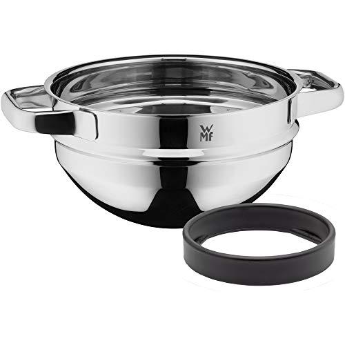 WMF Compact Cuisine - Cuenco para baño maría (20 cm, apilable, para baño María, acero inoxidable Cromargan, apto para lavavajillas)
