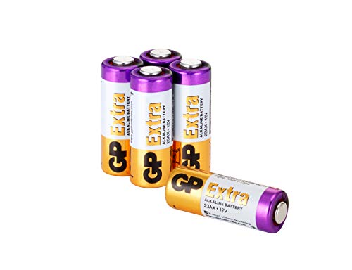 23A 12V - Set da 5 Batterie | GP Extra | Pile Alcaline Specialistiche MN21 / A23 / 23AE / 23 A da 12 Volt - Lunga Durata
