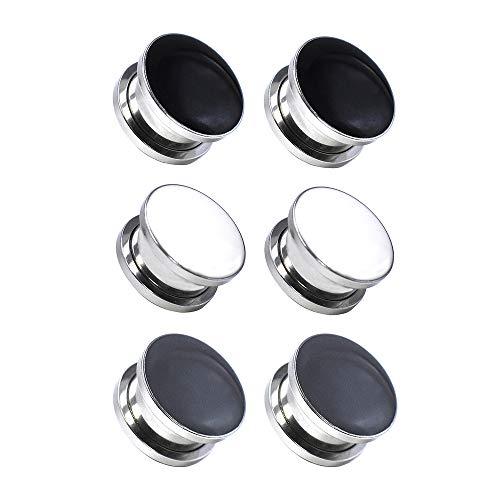 Jboyanpei Túneles de oreja con diseño de tartán de acero inoxidable, con rosca y dilatador, tamaño de 4 mm a 30 mm
