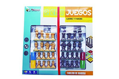 TOINSA- Juego Parchis Y Ajedrez Automatico Mesa, Multicolor (39-2882)