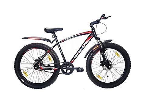 Avon Solo 26' Single Speed Double Disk Break Bicycle 48 cms Steel Frame Unisex Cycle (Neon Green / Black)