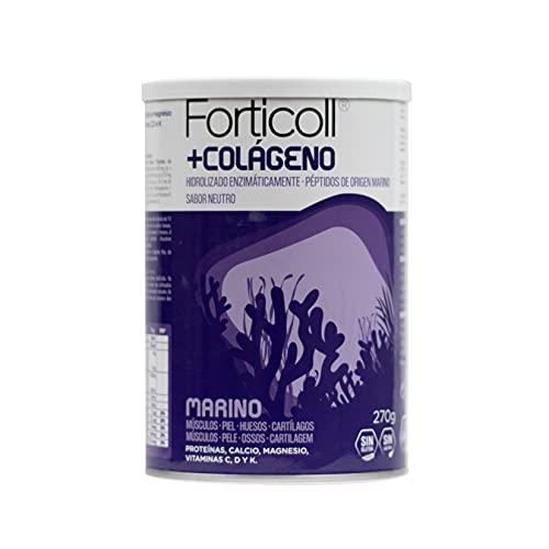FORTICOLL Colágeno Marino, Complemento Alimenticio en Polvo (192514), 270 Gramos