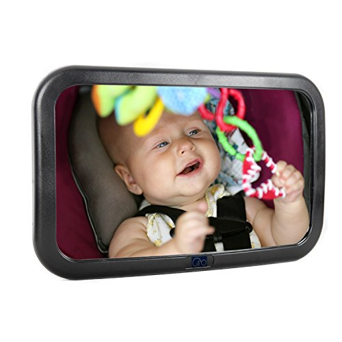 Baby Car Mirror for Back Seat - View Rear Facing Infant in Backseat - Shatter proof - Gil'O
