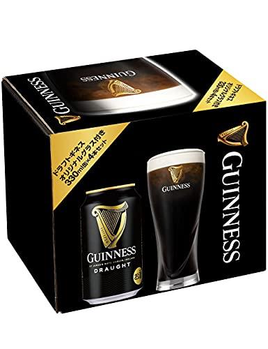 [Amazon限定ブランド] 【スリムパイントグラス付】[ビール]ドラフトギネス 4本セット [ スタウト アイルランド 330ml×4本 ]