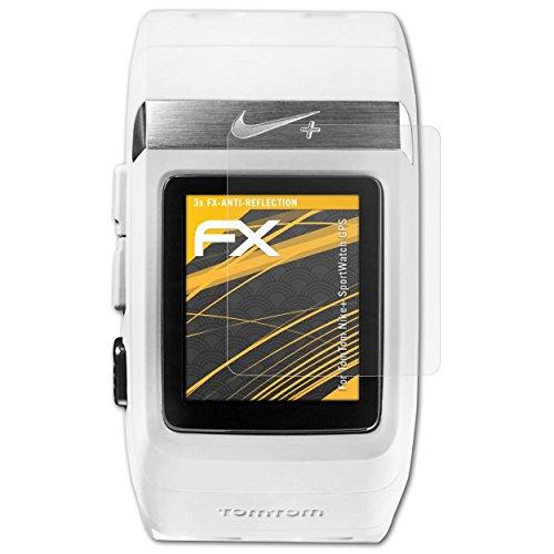 atFoliX Protecteur d'écran Compatible avec Tomtom Nike+ SportWatch GPS Film Protection d'écran, antiréfléchissant et Absorbant Les Chocs FX Film Protecteur (3X)