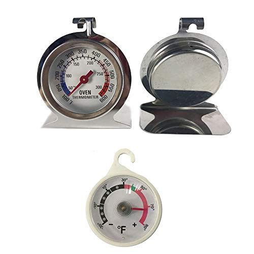 best oven thermometer baking thermometer (set of one oven thermometer, one fridge thermometer)