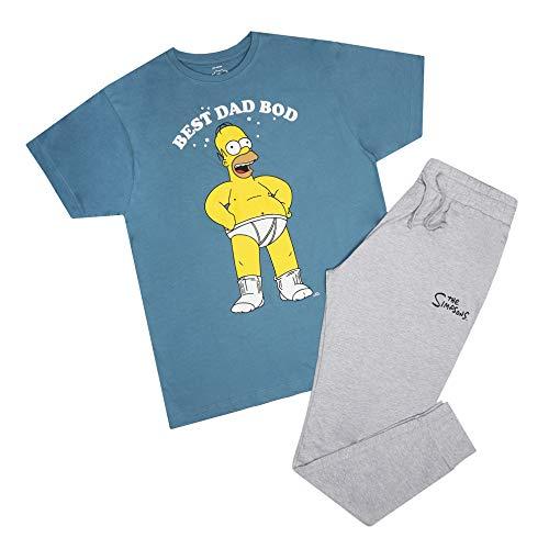 The Simpsons Herren Best Dad BOD Pyjama Set Pyjamaset, Mehrfarbig, XL