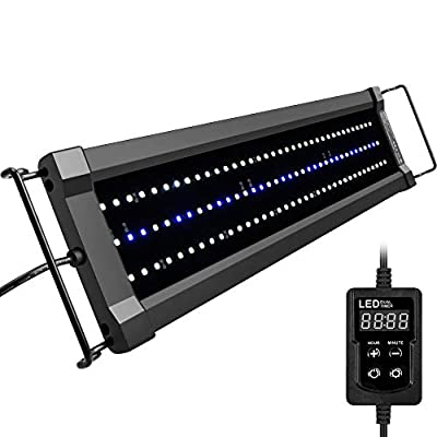 NICREW ClassicLED Gen 2 Aquarium Light, Dimmable LED Fish Tank Light with White and Blue LEDs, High Output, Dual-Channel Timer Included, 18-24 Inches, 15 Watts