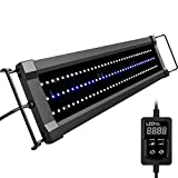 NICREW ClassicLED Gen 2 Aquarium Light, Dimmable LED Fish Tank Light with White and Blue LEDs, High Output, Dual-Channel Timer Included, 18 - 24 Inches, 15 Watts