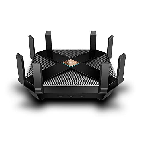 TP-Link Wi-Fi 6 Router Archer AX6000, Wi-Fi 802.11ax fino a 5952 Mbps, Porta WAN da 2.5 Gbps, 8 porte LAN Gigabit, 2 USB 3.0, Funziona con Alexa