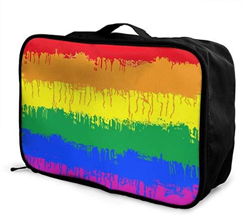 Reisetasche Wasserdicht Leichte Große Kapazität Tragbare Lage Tasche (LGBT Homosexuell Lesben Flagge)