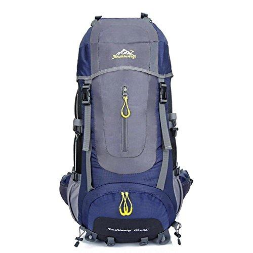 65L Backpack Unisexe Sacs de voyage Sac étanche Sac à dos en nylon Femmes Hommes Sac à dos , deep blue