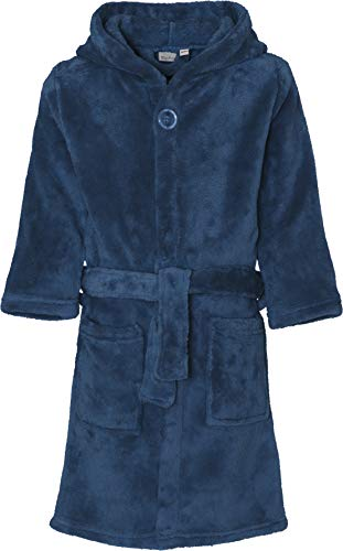 Playshoes Kinder-Unisex Fleece Uni Bademantel, Blau (Marine 11), 134/140