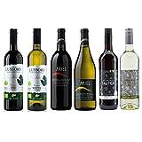 Red/White Wine Sampler -Six (6) Non-Alcoholic Wines 750ml Each - Featuring Ariel Cabernet Sauvignon, Ariel Chardonnay, Tautila Tinto, Tautila Blanco.