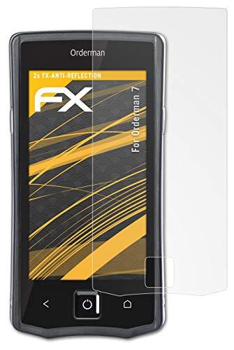 atFolix Panzerfolie kompatibel mit Orderman 7 Schutzfolie, entspiegelnde & stoßdämpfende FX Folie (2X)
