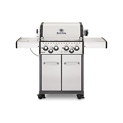 Broil King 922584 Baron S490 Gas Grill, 4-Burner, Stainless Steel a Grills Portable Products Propane Service with