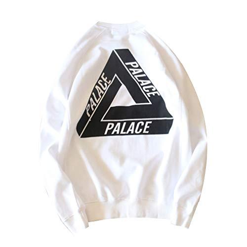 Palace Triangle Hoodie Lose Einfache Männer Und Frauen Absicherung Langärmeligen Pullover Paar Wilde Mantel Tide White-XL