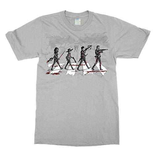 The Walking Dead Daryl Rick Michonne Zombie Apocalypse T Shirt (Medium) Silver