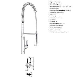 GROHE 32950000 K7 Ohm Sink Profi-Spray