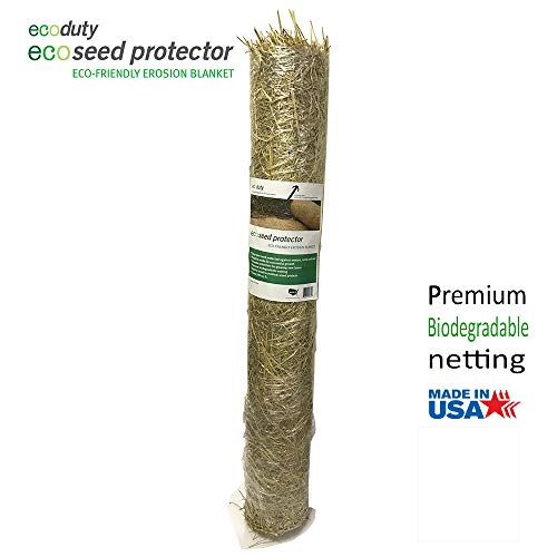 Ecoseed Protector 4' by 50' Contractor Grade Grass Seed Germination Erosion Control Blanket for Homeowners and Professional Contractors (1 ct.)