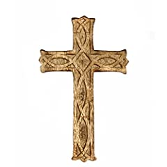 PRODUCT: Hosley's Wooden Cross Wall Décor. USES: This is perfect for adding a decorative touch to any room's decor. Perfect for everyday use, wedding, events, aromatherapy,Spa, Reiki, Meditation, Bathroom setting. Pair this with your existing decor, ...