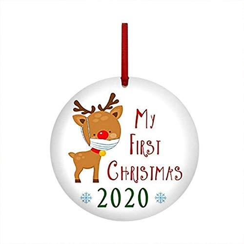 2020 Vrolijk Kerstfeest Hangend Ornament, Quarantaine Kerstvakantiehanger voor Kerstboom, Raam, Voordeur, Hangend Huis Feest Feestdagen Kerstversiering Levert Kerstcadeaus (A)