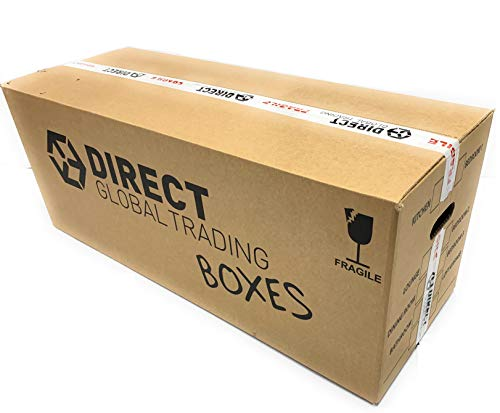 5 Strong Large Extra Long Strong Cardboard Storage Packing Moving House Boxes Double Walled 88.5cm x 34cm x 31.5cm
