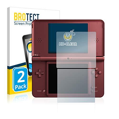 BROTECT Protector Pantalla Compatible con Nintendo DSi XL Protector Transparente (2 Unidades) Anti-Huellas