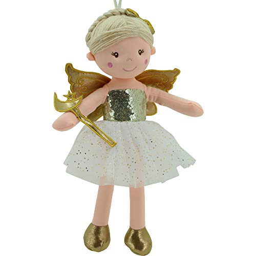 Sweety Toys 11780 Stoffpuppe Fee Plüschtier Prinzessin 45 cm Gold