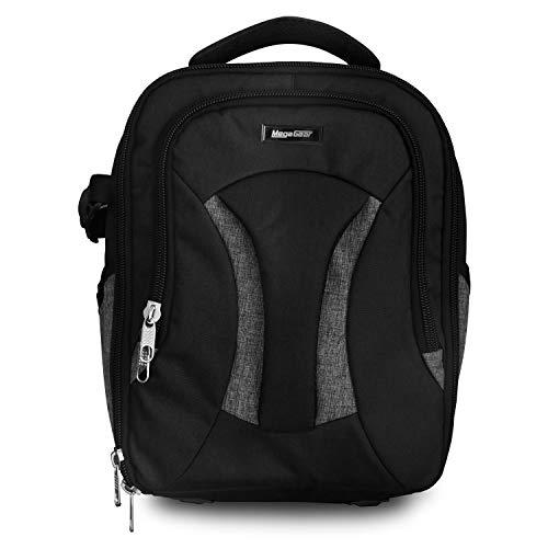 MegaGear Burney SLR, DSLR Kamera und Laptop Rucksack mit Regenschutz, Gadget Bag – Schwarz