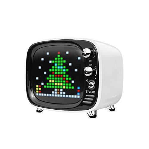 WHALLO Caja de Regalo de cumpleaños de Encargo Creativa de la pequeña Personalidad Retro de la TV del Pixel del Altavoz de Bluetooth