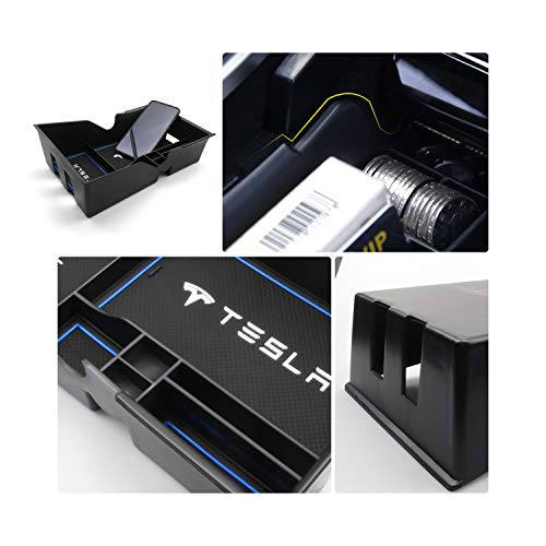 YEE-PIN-Auto-Armrest-Accessories-Center-Console-Storage-Box-Coins-Organizer-Case-for-Model-3-2018-2019