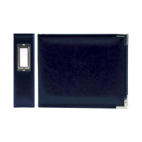 "We R Memory Keepers 40395-1 Classic Leather 3-Ring Binder Album, 6 by 6"", Navy"