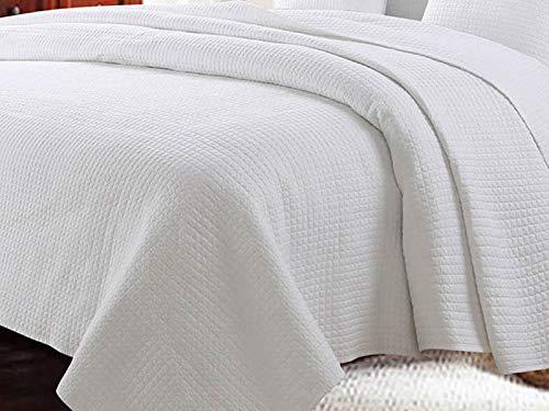 Zweiseitige Tagesdecke Bettüberwurf Steppdecke 1Tlg. Elegant Guarda- Weiß 220x240 cm