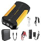 Arrancador de Coche 12V Car Booster 800A 18000mAh PortáTil con USB Arrancador de BateríA de Carga RáPida para AutomóVil (Amarillo)