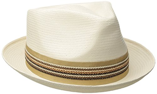 Carlos Santana Men's Shantung Pinch Front Hat, Natural, X-Large -  Dorfman Pacific Co. Inc Men's Headwear