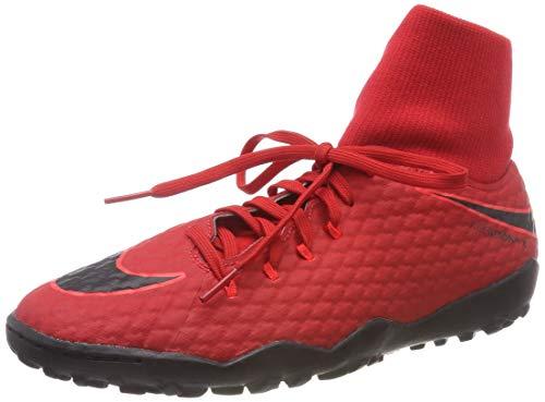 Nike Hypervenom X Phelon 3 DF TF 917769, Scarpe da Calcio Uomo, Rosso (University Red)/Nero Chiaro/Cremisi 616, 41 EU