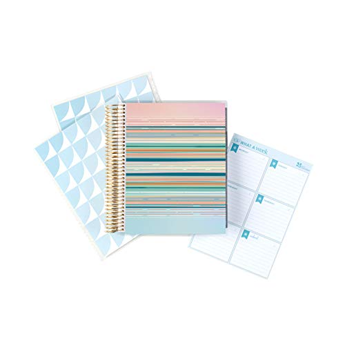 Erin Condren Deluxe Monthly Planner Bundle (3-Piece Set) - 2020 Planner (7' x 9') with Gold Coil, Additional Interchangeable Cover, Weekly Notepad, Neutral Layout