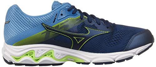 Mizuno Men's Wave Inspire 15 Running Shoe Blue Wing Teal-Dress Blue, D US