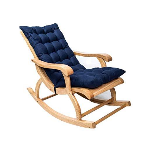 DIESZJ Cojín para Tumbona, portátil, reclinable, para jardín, cojín de Repuesto, cojín para Silla de Vapor, Patio, jardín (Azul Marino)