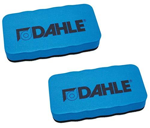 Dahle Whiteboard Schwamm (Magnetischer Wischer für Trockenreinigung auf vielen Oberflächen) (2er Pack/Blau)