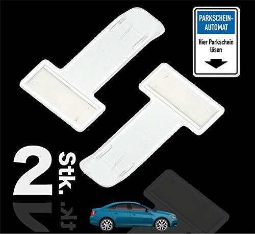 TK Gruppe Timo Klingler 2er Set Parkscheinhalter Clip - Windschutzscheiben Halterung für Parkschein, Parkausweis - Zettelhalter für Auto