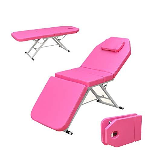 YZT QUEEN Table De Massage,Deux Couleurs au Choix Capacité portante 425 kg Lit de Massage Pliant Multifonctionnel de beauté Facile à Porter,Convient pour La Beauté,Le Tatouage,Etc,Rose