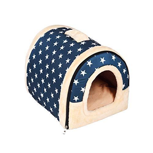 Enko Cuccia/letto 2 in 1 per animali domestici, portatile e pieghevole, elegante e comoda, per uso in ambienti interni, per cani e gatti.(Adatto per