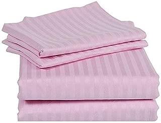 RRlinen 4 Pcs Stripe Sheet Set 800 Thread Count 100% Cotton Stripe Sheet Long Staple Fits Mattress 18